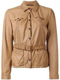 prada vintage belted leather jacket women archive