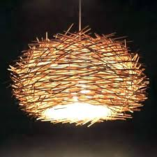 pendant light lamp shade hanging shades wicker bird nest lampshade paper lantern lights outdoor