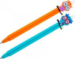 """<b>Ручка</b> гелевая стираемая автоматическая <b>Meshu</b> """"Owls"""", синяя, 0 ..."""