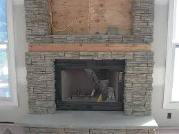 install faux stone fireplace installation diy
