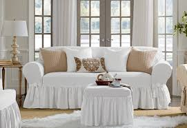 i would like these in both sofa and love seat size color white sure fit slipcovers essential twill one piece slipcovers sofa