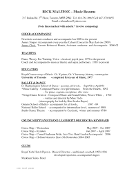 Resume Music Impressive Musicians Resume Template In Music Resume Sidemcicek 6