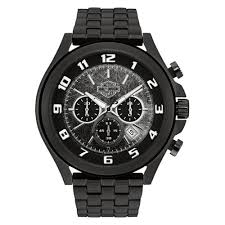 harley davidson® watches for men harley davidson reg men s bar shield black face dimensional link chronograph watch