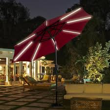 9 patio solar powered umbrella with