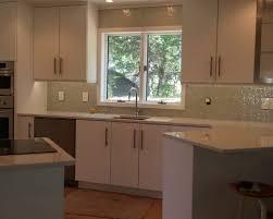 white slab door kitchen project