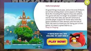 Angry Birds Rio is no longer on the App Store by the end of March - YouTube