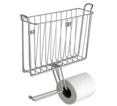 Chrome Toilet Paper Holder Magazine Rack Impressive Keep Your Reading Organized Order Inside Your Bathroom With