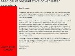 medical representative medical sales representative cover letter