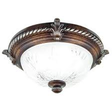 hampton bay light caffe patina flush mount ceiling fixture