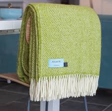 meadow green honeycomb throw