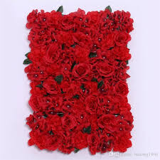 fake red rose wall