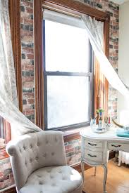 Faux Exposed Brick Apartment Tour Boho Style In 480 Sq Ft Poptalk
