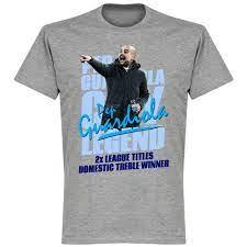 Pep Guardiola Legend T-Shirt - Grey