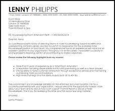 Housekeeping Room Attendant Cover Letter Sample