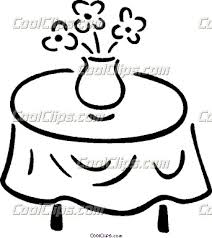 table clipart black and white. table clip art clipart black and white