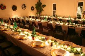 Christmas Banquet Table Decorations
