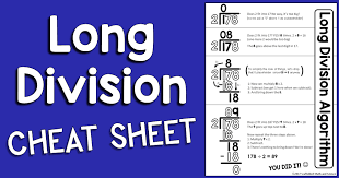 Long Division Process Chart Scaffolded Math And Science Long Division Cheat Sheet