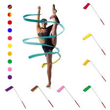 <b>Colorful</b> 2 Meters 4 Meters <b>Gym Ribbons</b> Dance Ribbon Fitness ...