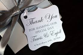 thank you tags for wedding favors amazon com wedding favor thank you tags handmade