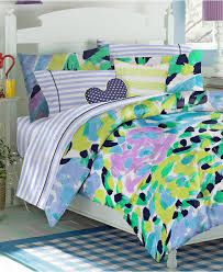 originalviews 656 viewss 576 alink modern blue green and yellow abstract striped beddinggallery