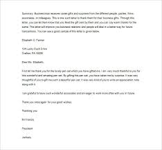 Sample Business Thank You Letter 12 Free Word Excel Pdf