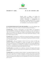 DECRETO Nº 40.288 DE 30 DE MAIO DE 2020. Dispõe sobre a adoção, no âmbito  da Administração Pública direta