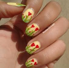 Heart Flowers Nail Art | Step By Step Tutorial #MNSNails ...