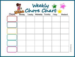 Free Chore Chart My Weekly Star Acn Latitudes
