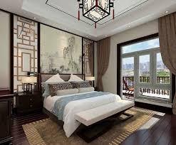 Modern Chinese style bedroom renderings