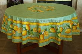lemon green cotton coated french round circle rectangle rectangular tablecloth french oilcloth indoor outdoor tablecloths french country home decor