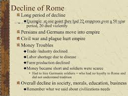 fall of rome decline of rome