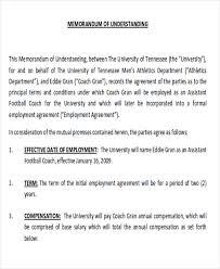 12 Memorandum Of Agreement Samples Examples Templates