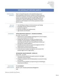 Sample Human Resources Generalist Resume Human Resourcest Resume Achievements Template Objective Format 16