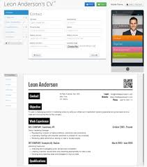 Free Mobile Resume Builder About our service Responsive CV with Mobile Resume QR Code 48
