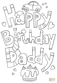 luxury coloring pages for dads happy birthday dad daddy doodle page free printable