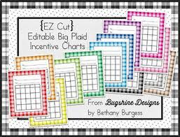 Class Incentive Chart Printable Editable Incentive Chart Printables Big Plaid