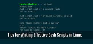 10 Useful Tips for Writing Effective Bash Scripts in Linux