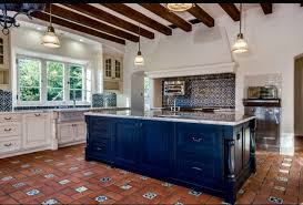 what color of kitchen cabinets go with spanish tile google