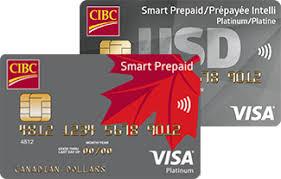 a cibc smart prepaid visa card and a cibc smart prepaid travel visa card in u s
