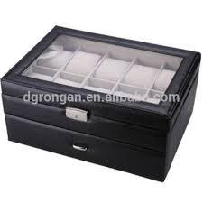 watch box 12 mens black leather display glass top jewelry box watch box 12 mens black leather display glass top jewelry box organizer