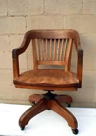 office design vintage wood swivel chair antique