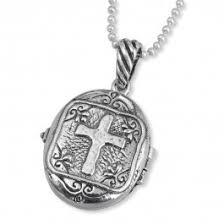 <b>925 Sterling Silver</b> Nano Bible <b>Roman</b> Cross Locket Necklace ...