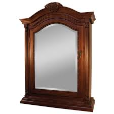 Wood Medicine Cabinet With Mirror Walnut Mirrored Medicine Cabinet Mirrors And Wall Decor