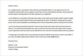 Example Of Recommendation Letter Custom 48 College Recommendation Letters Doc Pdf Free Premium
