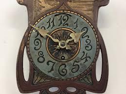 art nouveau wall clock in the style of ferdinand morawe