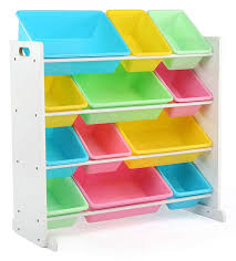 storage bin organizer. Perfect Bin Amazoncom Tot Tutors Kidsu0027 Toy Storage Organizer With 12 Plastic Bins  WhitePastel Pastel Collection Home U0026 Kitchen Intended Bin R