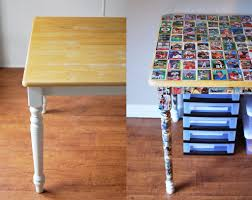 diy comic book desk. Baseball Card + Comic Book Table Diy Desk T