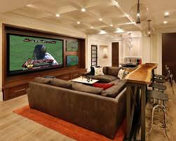 media room furniture ideas. Inspiration For A Timeless Home Theater Remodel In San Francisco With Wall-mounted Tv Media Room Furniture Ideas