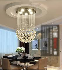 led crystal chandeliers round stair hanging lights aisle duplex stairs bedroom clothing living room restaurant chandeliers cool white round stair