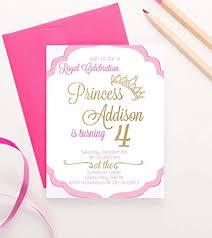 Amazon Com Princess Birthday Invitations For Girls Princess Party